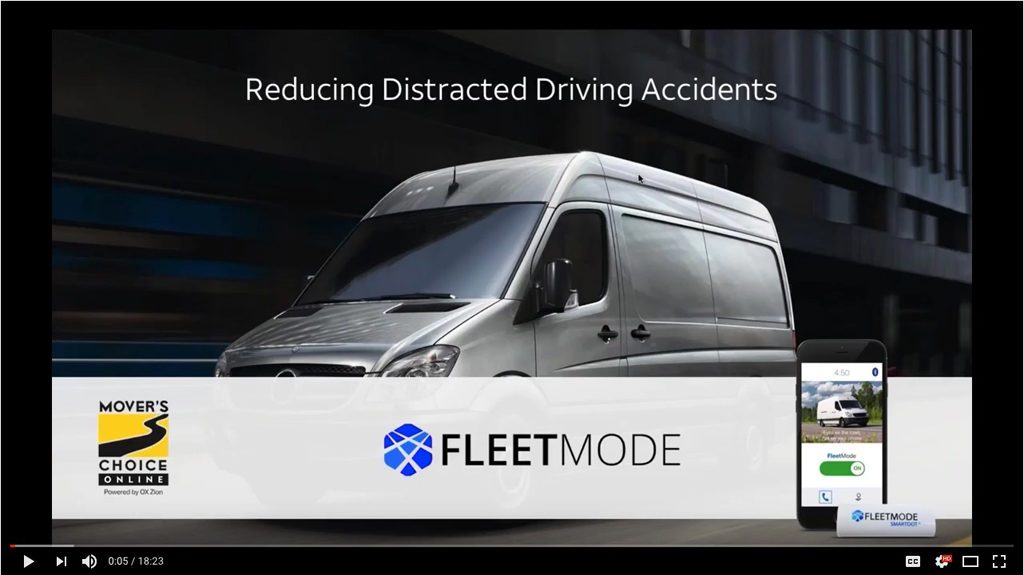 Reducing Distracted Driving Accidents. Mover's Choice and Fleetmode